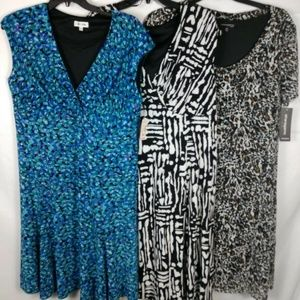 3 WOMENS PLUS SZ 18W DRESSES ALL NWT